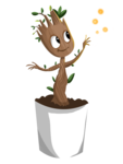 Baby Groot PNG Clipart icon png