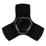 Black Fidget Spinner PNG Transparent Picture icon png