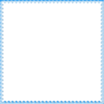 Blue Border Frame PNG File icon png