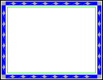 Blue Border Frame Transparent Background icon png