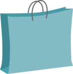Blue Shopping Bag Clip Art PNG icon png