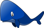 Blue Whale Transparent PNG icon png