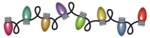 Christmas Decoration Lights PNG Transparent Picture icon png