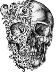Cool Skull Tattoo Design Drawing PNG icon png
