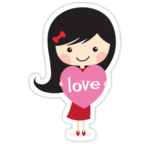 Cute Cartoon Girl PNG Free Download icon png