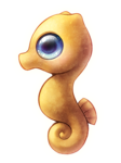 Cute Seahorse PNG Transparent Picture icon png