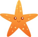Cute Starfish PNG Transparent Picture icon png