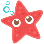 Cute Starfish Transparent Background icon png