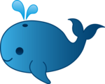 Cute Whale PNG Clipart icon png