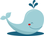 Cute Whale PNG Photo icon png