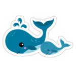 Cute Whale PNG Pic icon png