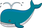 Cute Whale PNG Transparent Image icon png