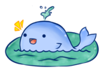 Cute Whale Transparent Background icon png