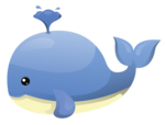 Cute Whale Transparent PNG icon png