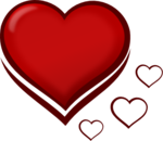 Dark Red Heart PNG Image icon png
