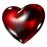 Dark Red Heart PNG Transparent Image icon png