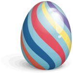 Easter Eggs Stripes PNG icon png