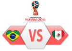 FIFA World Cup 2018 Brazil VS Mexico PNG Image icon png