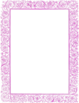 Girly Border PNG Free Download icon png