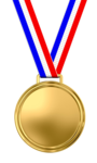 Gold Medal Transparent Background icon png