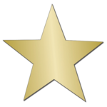 Gold Star Sticker PNG Image icon png