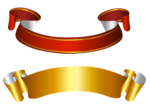 Golden Ribbon PNG Free Download icon png