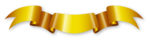 Golden Ribbon PNG Transparent Image icon png