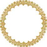 Golden Round Frame PNG HD icon png