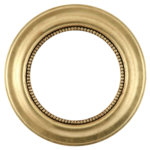 Golden Round Frame Transparent Background icon png