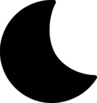 Half Moon Transparent Background icon png