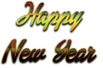 Happy New Year Letter Transparent Background icon png
