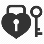 Heart Key PNG Background Image icon png