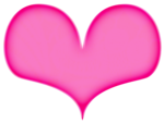Hot Pink Heart PNG File icon png