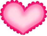Hot Pink Heart PNG HD icon png