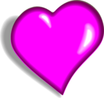 Hot Pink Heart PNG Image icon png
