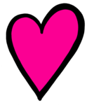 Hot Pink Heart PNG Transparent Image icon png