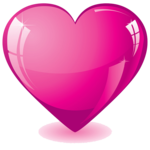 Hot Pink Heart Transparent Background icon png