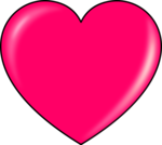 Hot Pink Heart Transparent PNG icon png