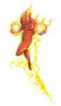 Human Torch PNG HD icon png