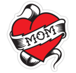 I Love Mom Heart Tattoo PNG icon png
