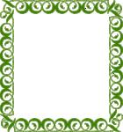 Lime Border Frame Transparent Background icon png