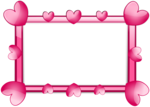 Pink Border Frame PNG HD icon png