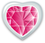 Pink Diamond Heart PNG Transparent Image icon png