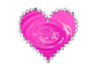 Pink Diamond Heart Transparent Background icon png