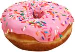Pink Donut PNG File icon png