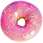 Pink Donut PNG Image icon png
