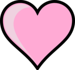 Pink Heart Transparent Background icon png