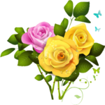 Pink Roses Flowers Bouquet PNG File icon png