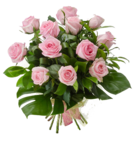 Pink Roses Flowers Bouquet PNG Photo icon png