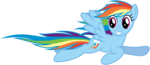 Rainbow Dash Flying PNG File icon png